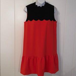 Victoria Beckham for Target orange & black dress